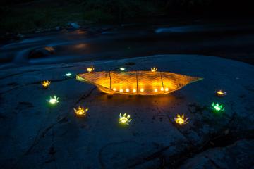 A River of Light: Community Lantern Installation (2015-2018)