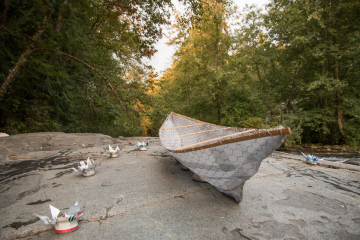 Canoe by the river
