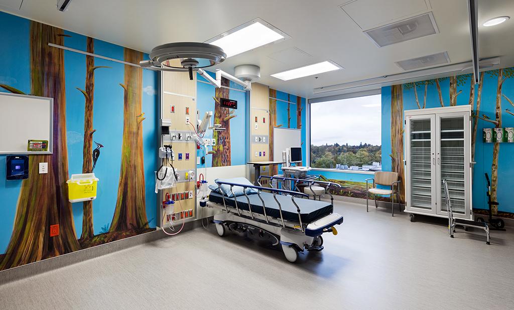 BC Children's Hospital mural - installation view